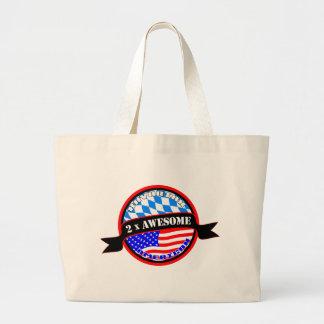 Bavarian American 2x Awesome Large Tote Bag