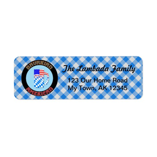 Bavarian American Beer Stein Address Labels
