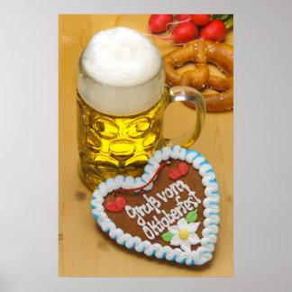 Bavarian beer 2 poster