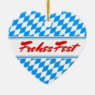 Bavarian Ceramic Heart Decoration