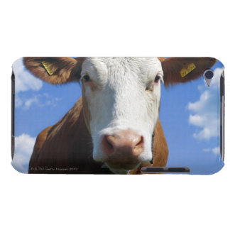 Bavarian cow against blue sky iPod touch case