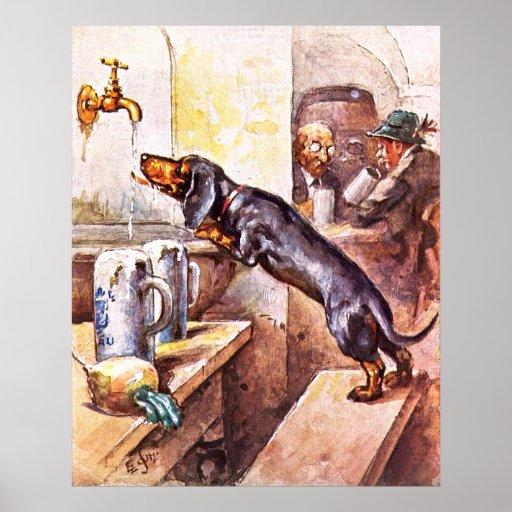 Bavarian Dog Poster