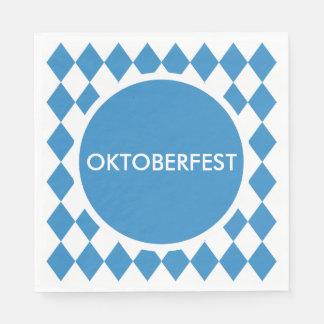 Bavarian Geometric Pattern for Oktoberfest. Disposable Napkin