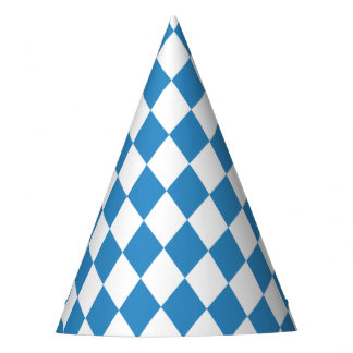 Bavarian Geometric Pattern for Oktoberfest. Party Hat