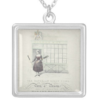 Bavarian Girls Song by Maxim Gouci, song sheet Silver Plated Necklace