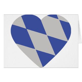bavarian heart icon card