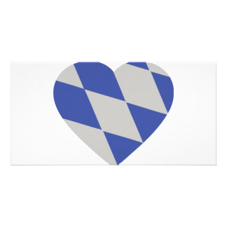 bavarian heart icon customised photo card