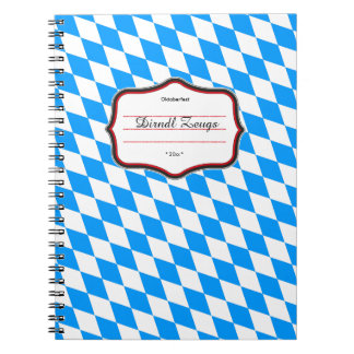 Bavarian pure pattern blue white notebook