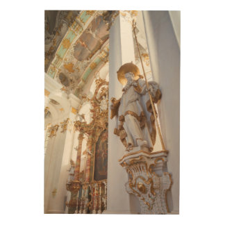 Bavarian Rococo Church Interior Wood Wall Art