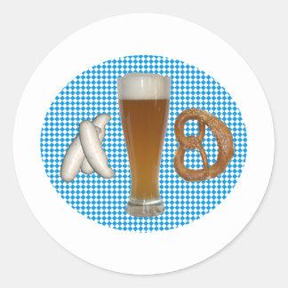 Bavarian snack round sticker