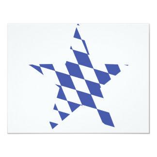 bavarian star icon 4.25x5.5 paper invitation card