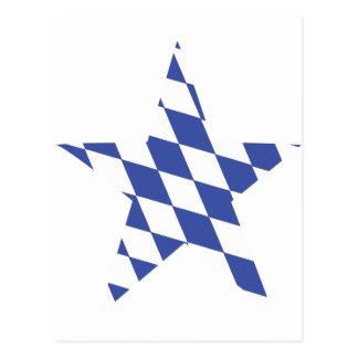 bavarian star icon postcard