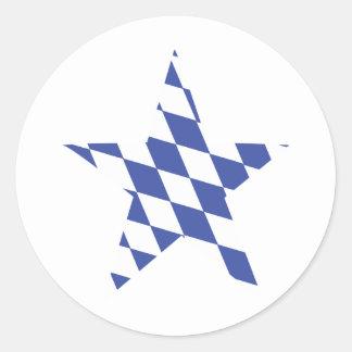 bavarian star icon round sticker