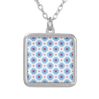 Bavarian subtly square pendant necklace