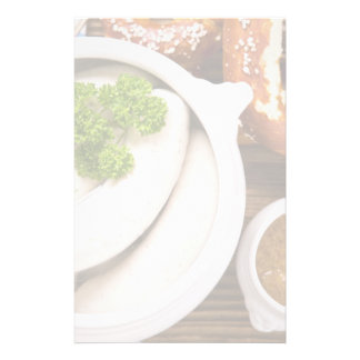 Bavarian weisswurst breakfast stationery