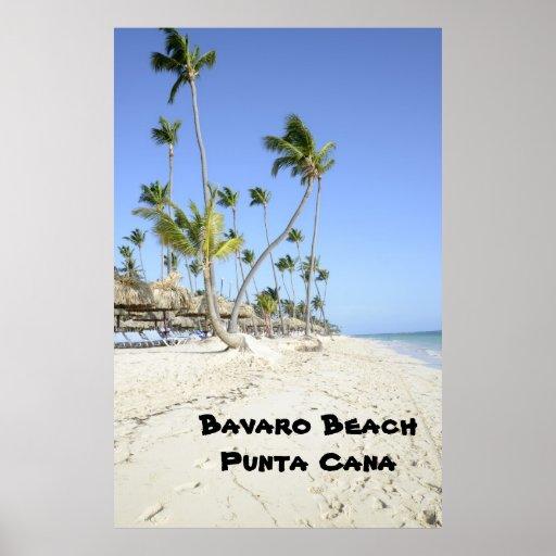 Bavaro Beach on the island of Punta Cana Poster