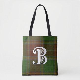 Baxter Clan Tartan Monogram Tote Bag