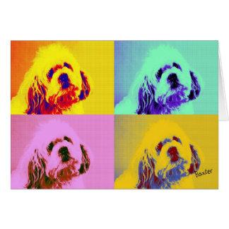 Baxter Dog Pop Art Blank Note Card