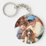 Baxter - English Springer Spaniel Photo-03 Basic Round Button Key Ring