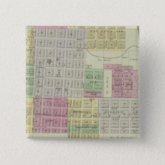 Baxter Springs, Cherokee County, Kansas 15 Cm Square Badge
