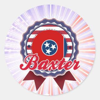 Baxter TN Round Stickers