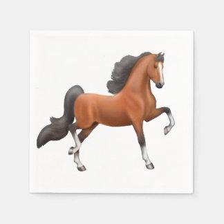 Bay American Saddlebred Horse Napkins Paper Napkins