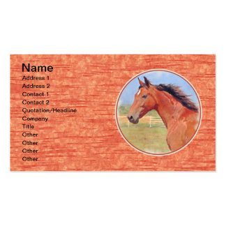 BAY ANDALUSIAN MARE PACK OF STANDARD BUSINESS CARDS