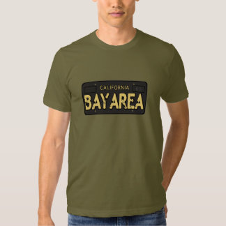 Bay Area California License Plate Tee Shirt