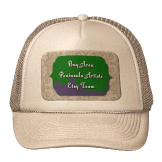 Bay Area Peninsula Artists Etsy Team Logo Cap