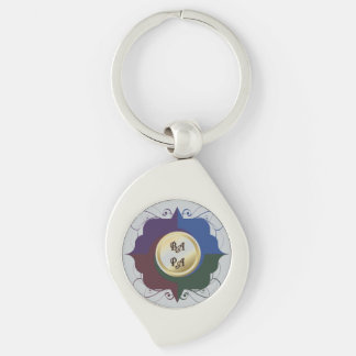 Bay Area Peninsula Artists Team 2015 Logo Keychain Silver-Colored Swirl Key Ring