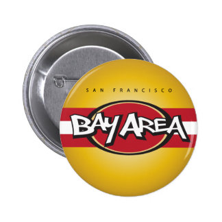 Bay Area Red & Gold Button