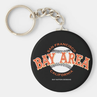 Bay Area SF Basic Round Button Key Ring