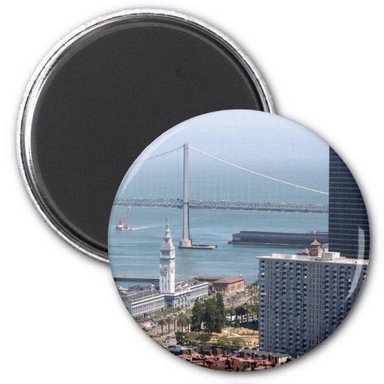 Bay Bridge 6 Cm Round Magnet