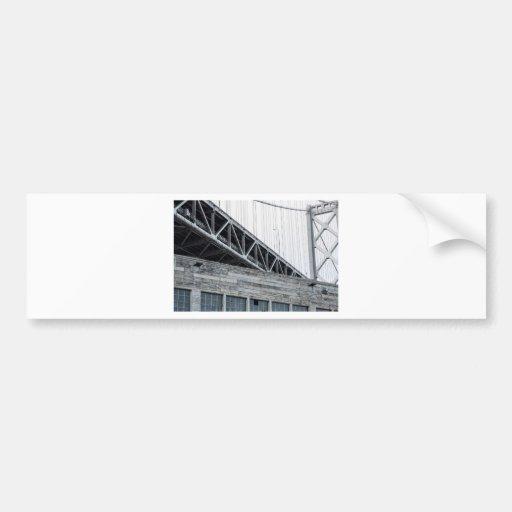 Bay Bridge and Building at Pier 26 Bumper Sticker
