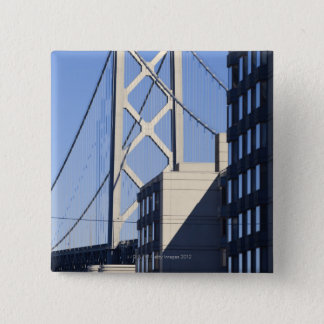 Bay Bridge and Buildings, San Francisco 15 Cm Square Badge