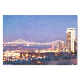 Bay Bridge Glow - San Francisco Tissue Paper