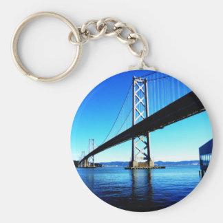 Bay Bridge Northern California San Francisco Basic Round Button Key Ring