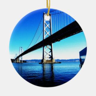 Bay Bridge Northern California San Francisco Christmas Ornament