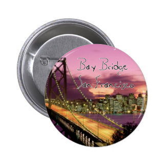Bay Bridge, San Francisco, California 6 Cm Round Badge
