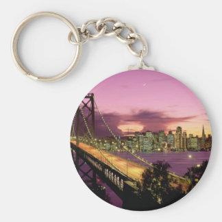 Bay Bridge, San Francisco, California Basic Round Button Key Ring