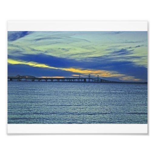 Bay Bridge Sunset, Maryland Photographic Print