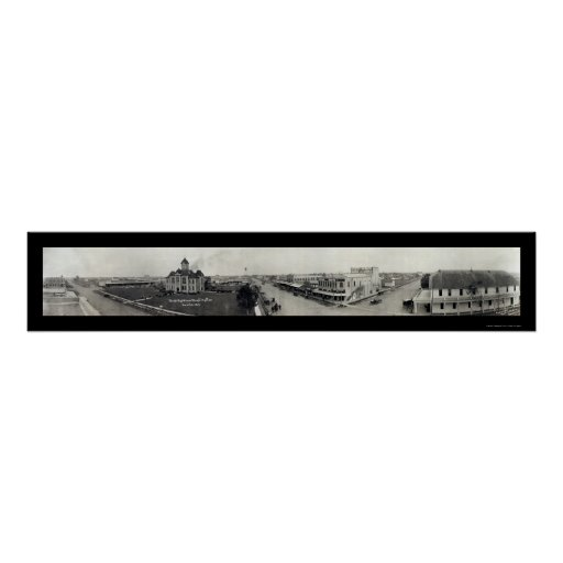 Bay City Texas Photo 1912 Poster