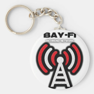 BAY-FI BASIC ROUND BUTTON KEY RING