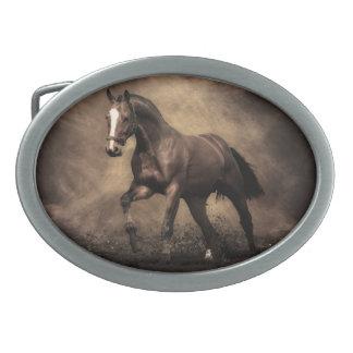 Bay Horse Belt Buckle