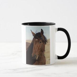 Bay Horse in Wind Mug