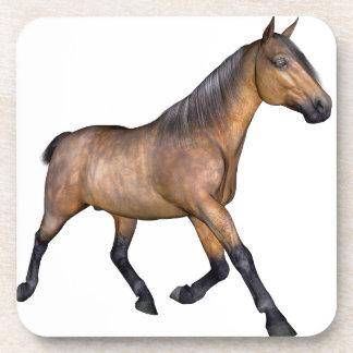 Bay Horse Running Drink Coasters