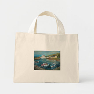 Bay Hotel Cushendun oil painting by Joanne Casey - Mini Tote Bag