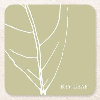 Bay leaf herb coaster
