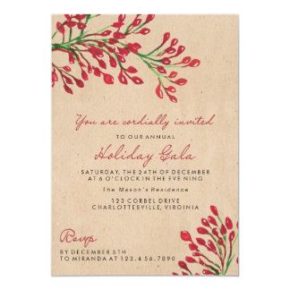 Bay Leaves Christmas/Holiday Party Invitations