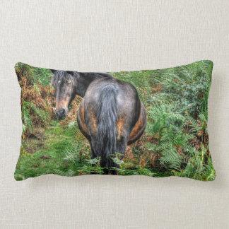 Bay New Forest Pony & Forest U.K. Throw Pillow